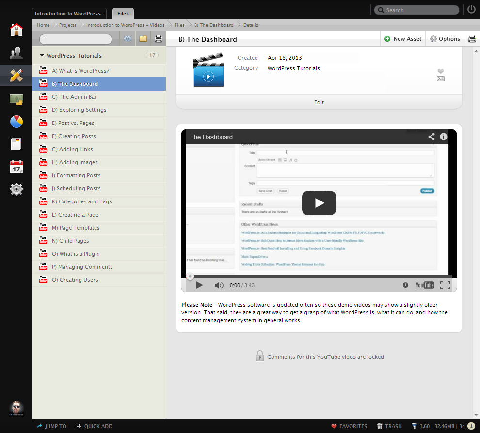 Added introduction to wordpress video library ab interfaces we always walk our clients through how to use all of the wonderful features within wordpress via a remote desktop session prior to launch baditri Images